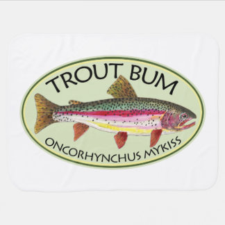 Funny Trout Bum Fisherman's Baby Blanket