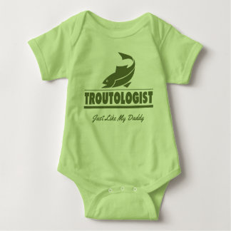 Funny Trout Fishing TROUTOLOGIST Baby Bodysuit