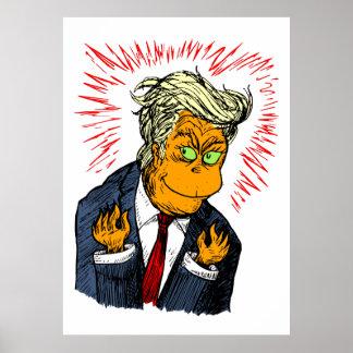 Funny Trump Christmas Poster