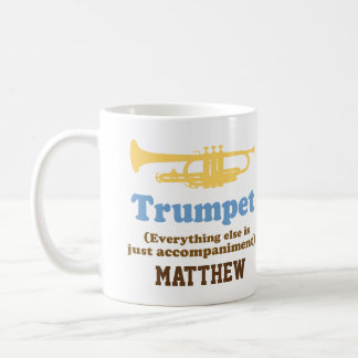 Funny Trumpet Joke Personalized Music Mug