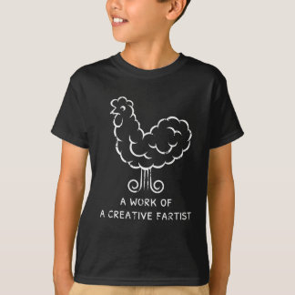 Funny tshirts Cool Crazy Fart Chicken Graphic
