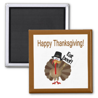 Funny Turkey, Happy Thanksgiving Magnet