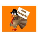 Funny Turkey saying ''Happy Thanksgiving!'' Postcards