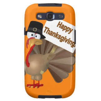 Funny Turkey saying :''Happy Thanksgiving!'' Samsung Galaxy S3 Case