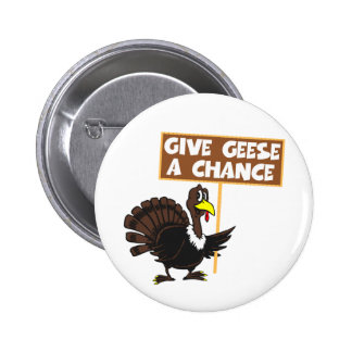 Funny Turkey spoof peace 2 Inch Round Button