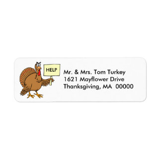 Funny Turkey Thanksgiving Return Address Stickers