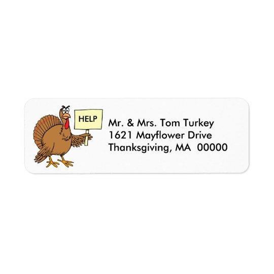 Funny Turkey Thanksgiving Return Address Stickers
