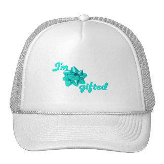 Funny Turquoise I'm Gifted Hat