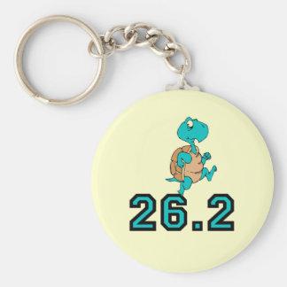 Funny turtle marathon basic round button keychain