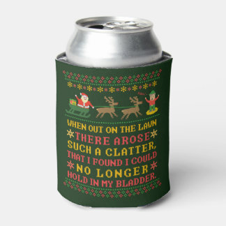 Funny Twas the Night Before Christmas Humorous Can Cooler