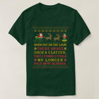 Funny Twas the Night Before Christmas Humorous T-Shirt