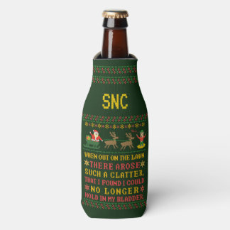Funny Twas the Night Before Christmas Humorous V2 Bottle Cooler