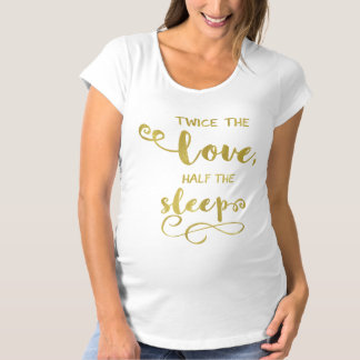 Funny Twins Maternity T-Shirt Gold Foil