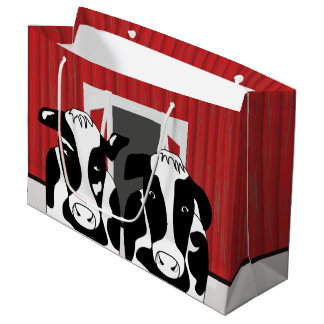 Funny Two Cow Couple LGB Large Gift Bag