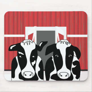 Funny Two Cow Couple Mousepad