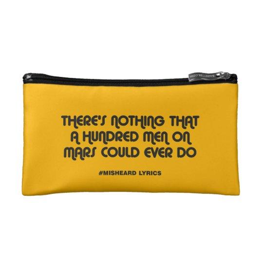 Funny typographic misheard song lyrics cosmetic bag