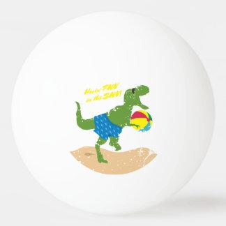 Funny tyrannosaurus rex dinosaur summer beach ball