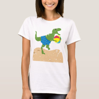 Funny tyrannosaurus rex dinosaur summer beach ball T-Shirt