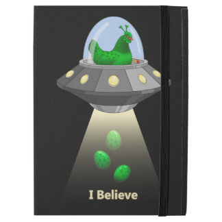 "Funny UFO Green Chicken Egg Alien Abduction iPad Pro 12.9"" Case"