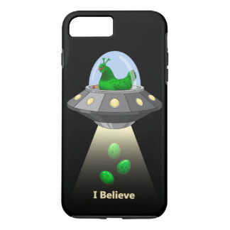 Funny UFO Green Chicken Egg Alien Abduction iPhone 8 Plus/7 Plus Case
