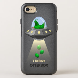 Funny UFO Green Chicken Egg Alien Abduction OtterBox Symmetry iPhone 8/7 Case