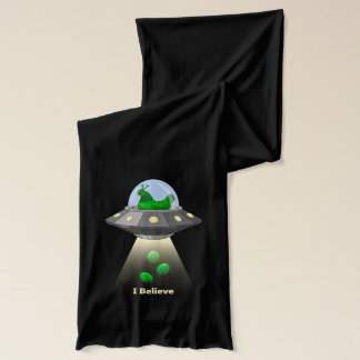 Funny UFO Green Chicken Egg Alien Abduction Scarf