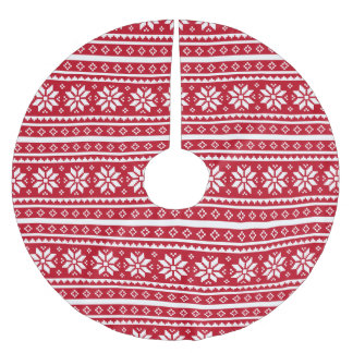 Funny ugly Christmas sweater pattern tree skirt