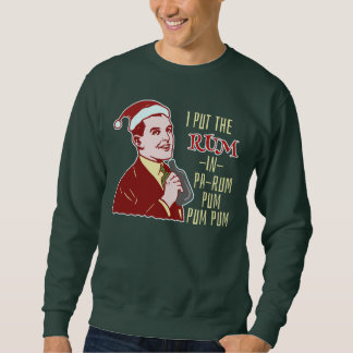 Funny Ugly Christmas Sweater Retro Rum Man Humor Pullover Sweatshirts