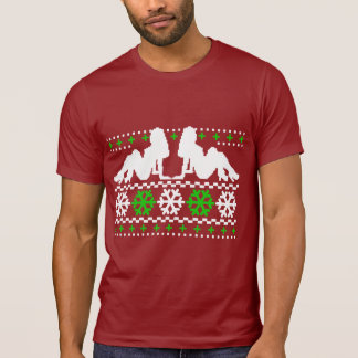 Funny! Ugly Christmas Sweater with Chicks T Shirt