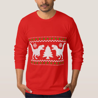 Funny! Ugly Holiday T-Rex Sweater Tees