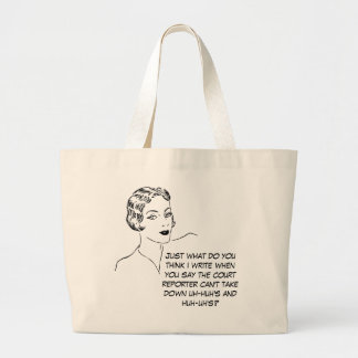 Funny Uh-huh, Huh-uh Court Reporter Tote Bag
