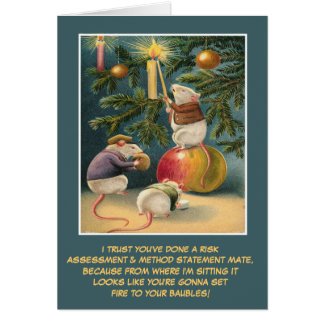 Funny UK health and safety Christmas Card