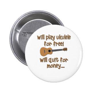 Funny Ukulele 2 Inch Round Button