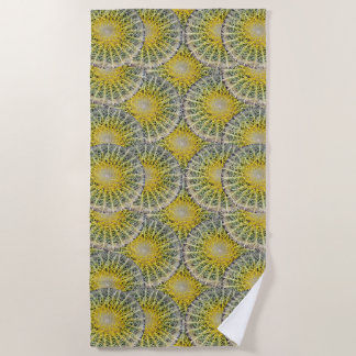 Funny Uncomfortable Tropical Cactus Pattern Beach Towel