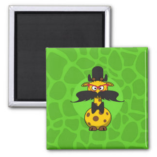 Funny Undercover Giraffe in Mustache Disguise Magnet