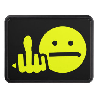 Funny Unhappy Smiley Face Hitch Cover