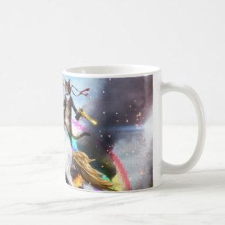 Funny Unicorn and Cat Cotton Coffee Mug