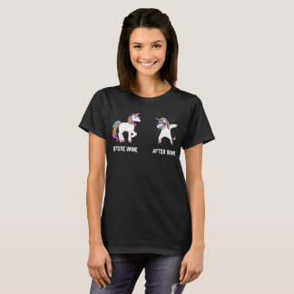 Funny Unicorn Before Wine After Wine T-shirts Gift