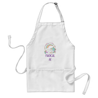 Funny Unicorn Magical AF with Girly Decorations Standard Apron