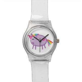 Funny Unicorn on White Wristwatch