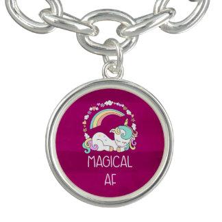 Funny Unicorn Saying Magical AF Bracelet