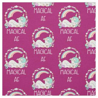 Funny Unicorn Saying Magical AF Fabric