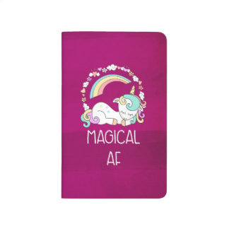 Funny Unicorn Saying Magical AF Journal