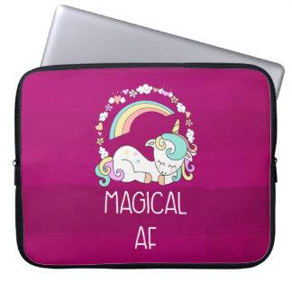 Funny Unicorn Saying Magical AF Laptop Sleeve