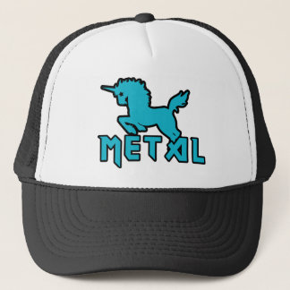 Funny Unicorns are Metal Trucker Hat