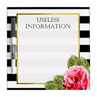 Funny Useless Information For Women Dry Erase Board