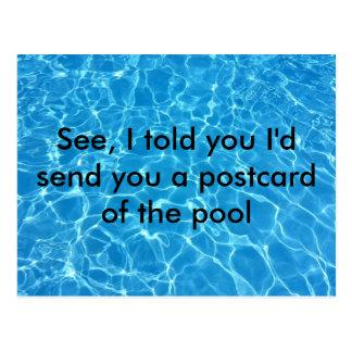Funny vacation postcard