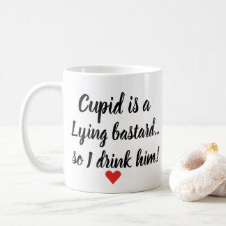 Funny Valentine Cupid Is Lying Coffee Mug