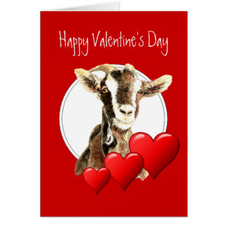 Funny Valentine from Your Favorite Old Goat, humor Greeting Card