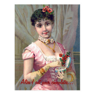 Funny Valentine s Day Card with Victorian Lady Post Cards